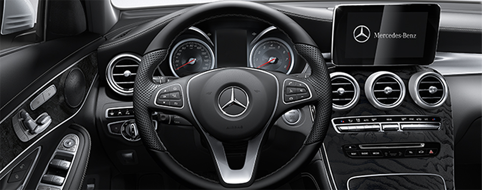 Safety features and interior of the 2018 Mercedes-Benz GLC 300 - available at our Mercedes-Benz dealership near Gainesville, FL.
