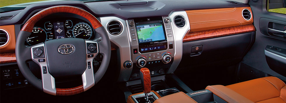 Safety features and interior of the 2019 Toyota Tundra - available at our Toyota dealership near Columbus, GA