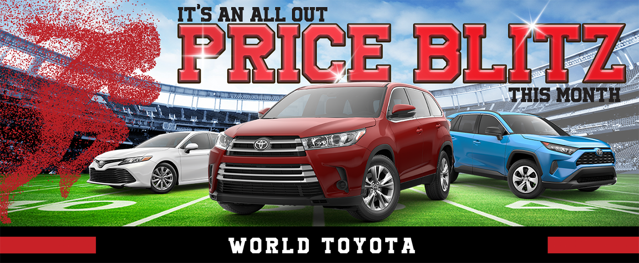 It's An All Out Price Blitz This Month! | World Toyota