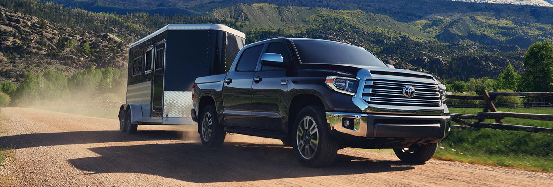 Exterior image of the 2020 Toyota Tundra for sale at Spitzer Toyota.