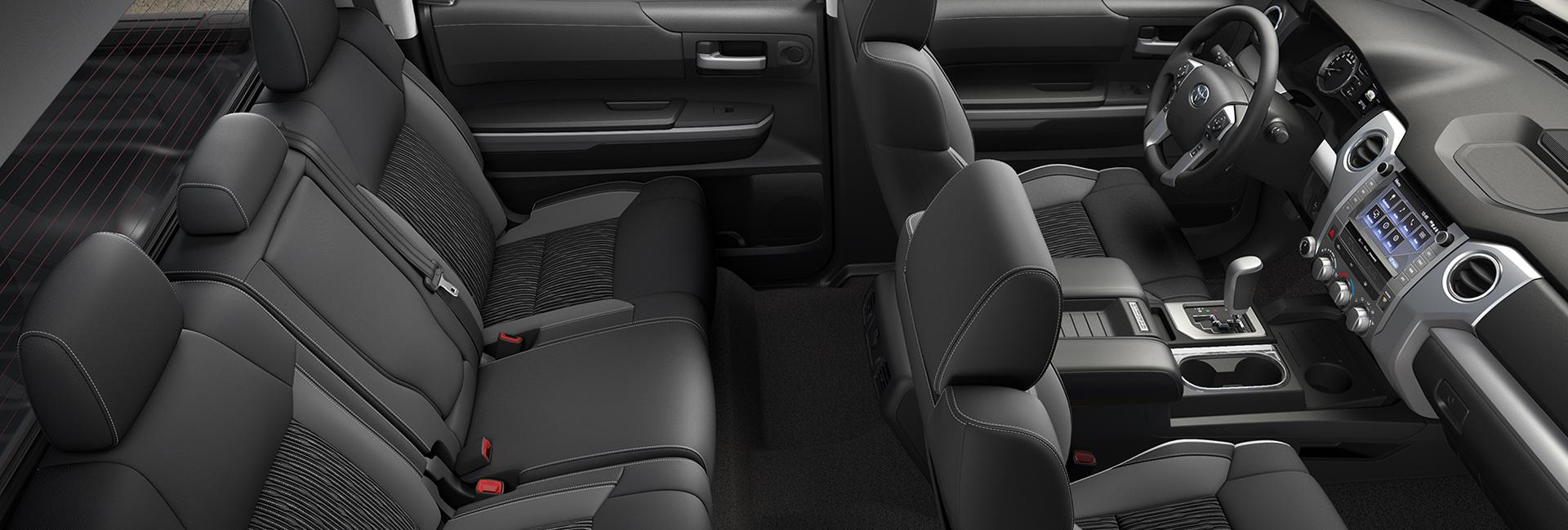 Interior image of the 2020 Toyota Tundra
