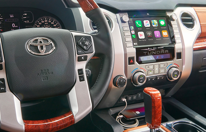 Picture of the Interior of the 2020 Toyota Tundra