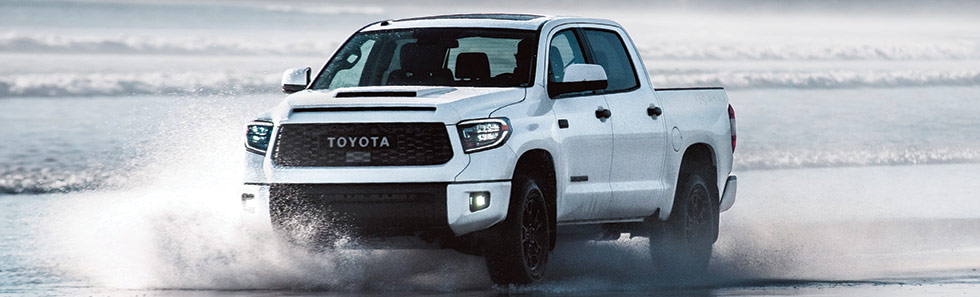 Exterior of the 2019 Toyota Tundra TRD Pro - available at our Toyota dealership in Columbus, GA.