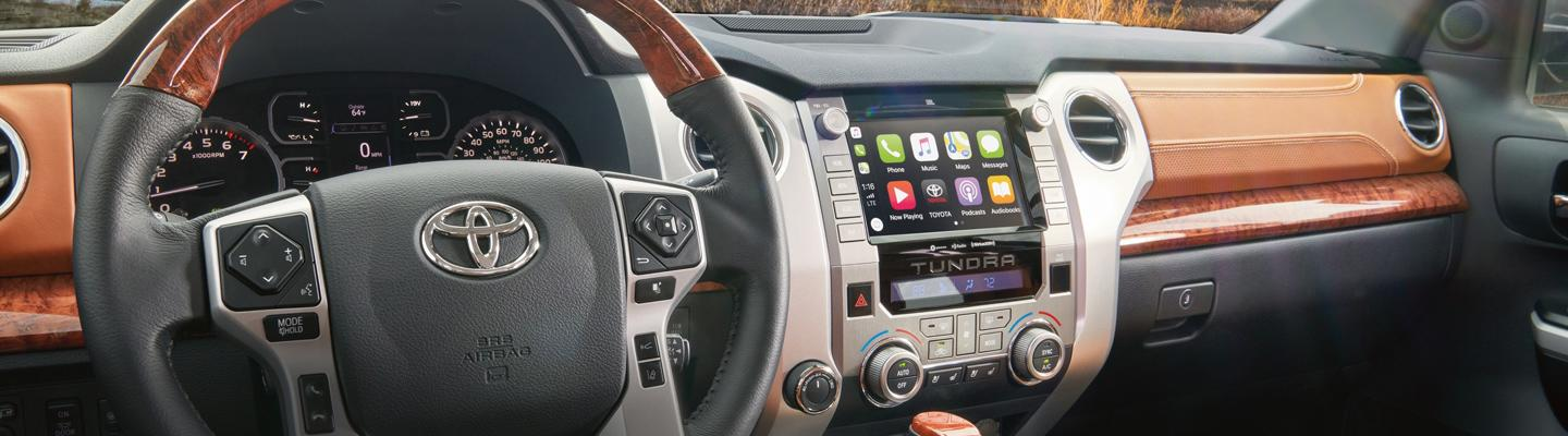 Interior view of the 2020 Toyota Tundra