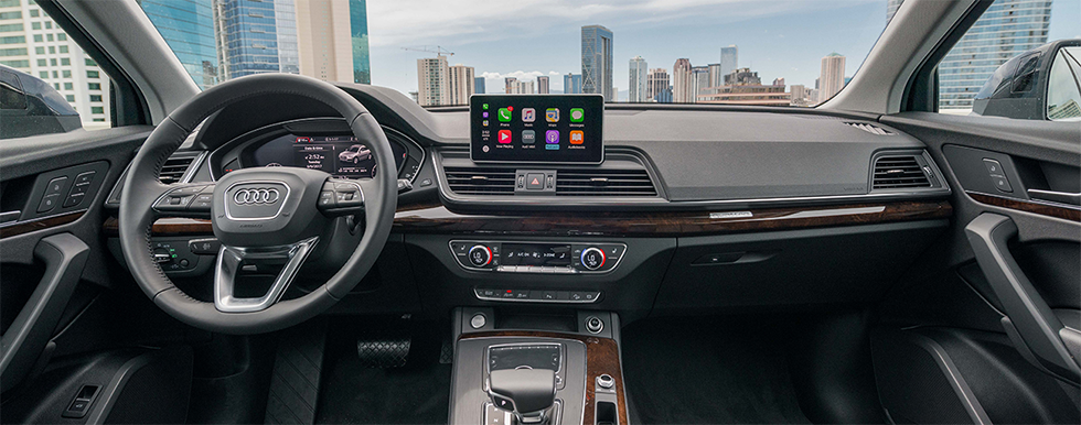 Safety features and interior of the 2018 Audi Q5 - available at our Audi dealership in Honolulu, HI.