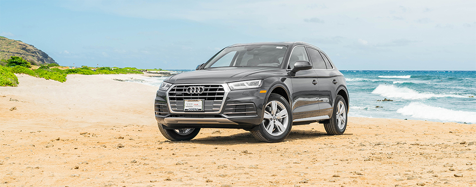 Exterior of the 2018 Audi Q5 - available at our Audi dealership in Honolulu, HI.