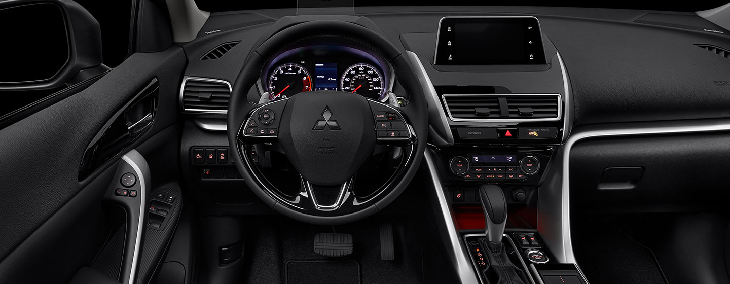 Safety features and interior of the 2019 Mitsubishi Eclipse Cross - available at our Mitsubishi dealer near Gainesville, FL
