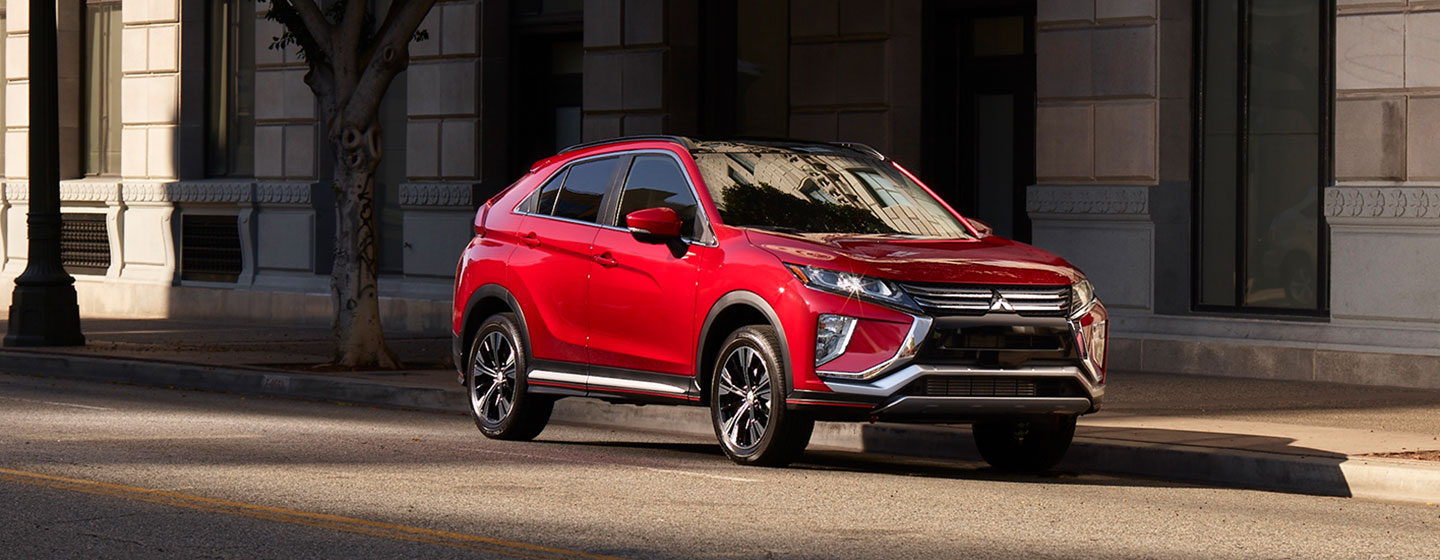 2019 Mitsubishi Eclipse Cross parked front and side view