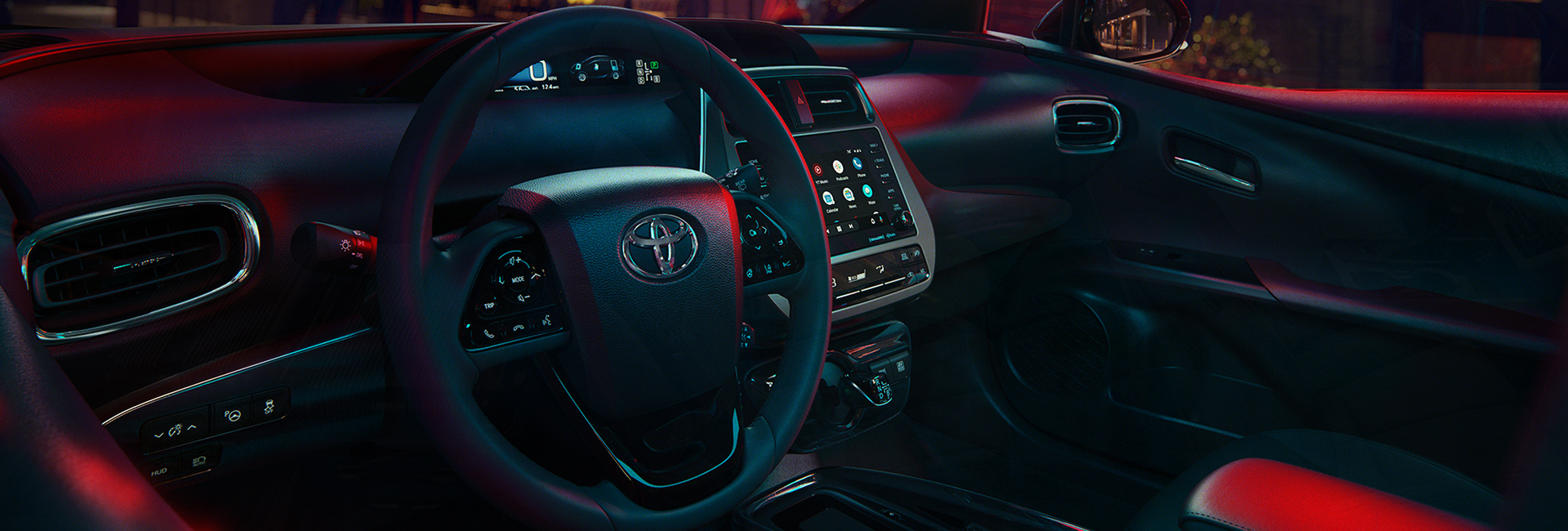 Interior view of the 2021 Prius.