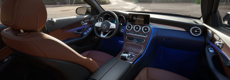 Interior of the 2020 Mercedes-Benz C-Class