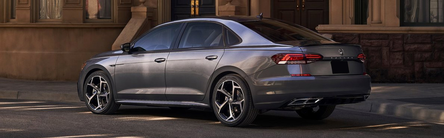 Rear view of the 2020 Volkswagen Passat parked