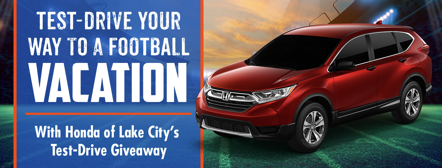 Test-Drive your way to a football vacation with Honda of Lake City's Test-Drive giveaway