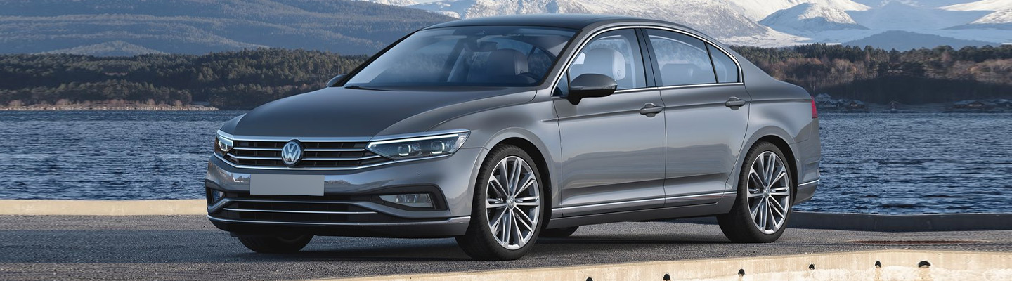 Side view of the 2020 Volkswagen Passat parked