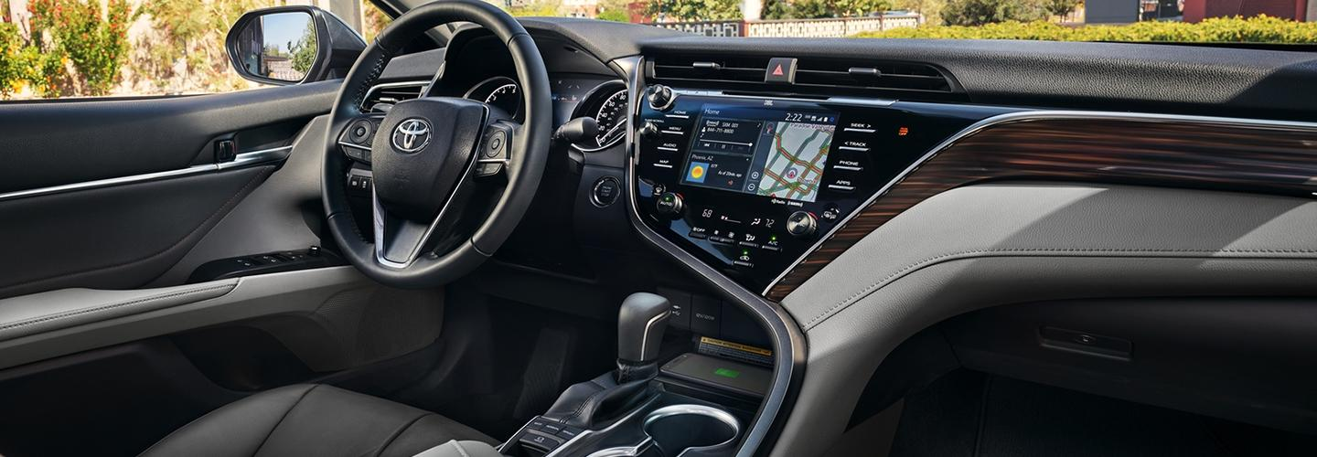 Steering Wheel and Dashboard of 2020 Toyota Camry