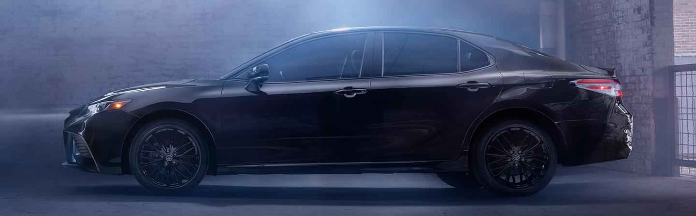 Black 2020 Toyota Camry Parked in Garage