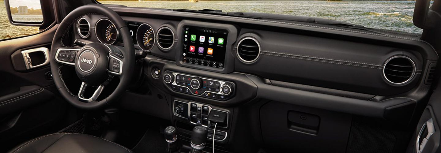 Drivers side interior of the 2020 Jeep Gladiator at Central Florida CDJR