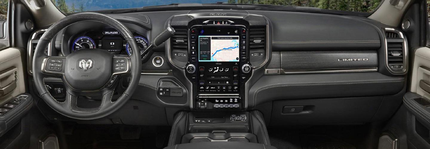 Interior image of the 2020 Ram 2500.