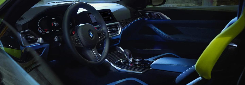 Interior of 2021 BMW M4