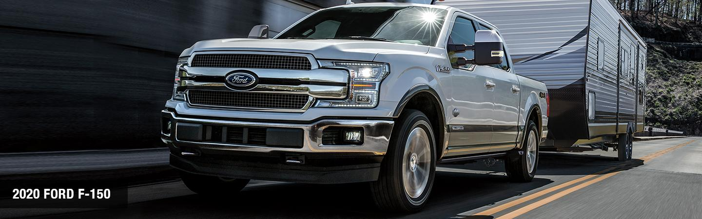 Front view of a silver 2020 RAM 1500