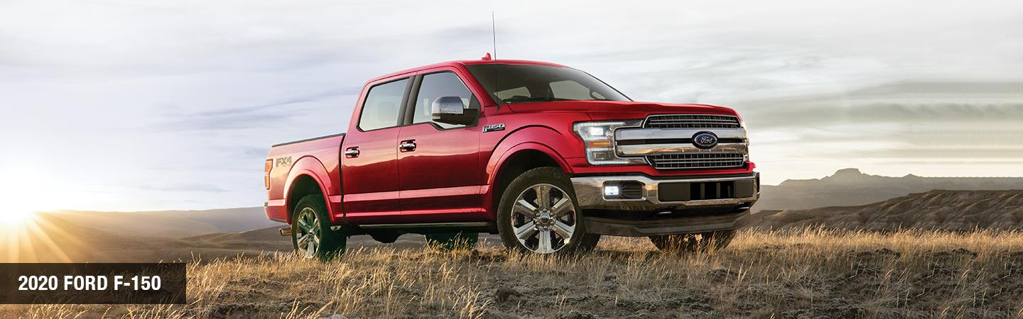 Front view of a red 2020 RAM 1500