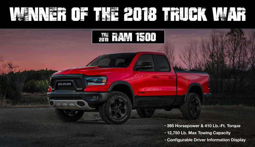Discover 3 Reasons Why The 2019 Ram 1500 Won The Truck War