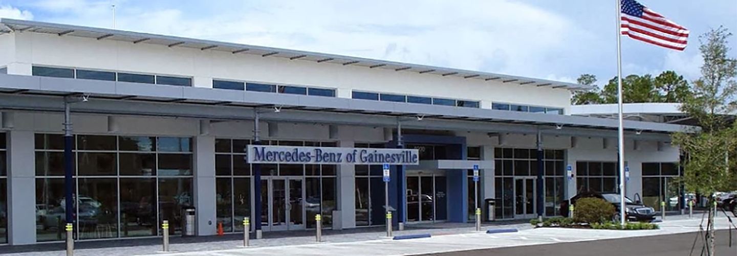 Mercedes-Benz of Gainesville dealership, offering financing and service specials