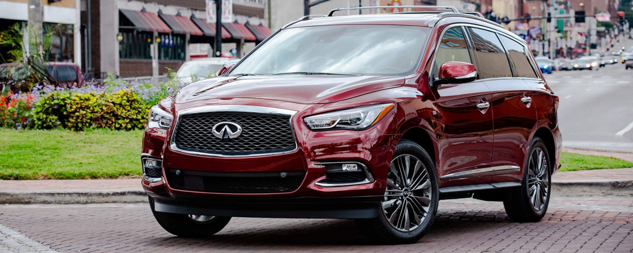 Exterior of the 2019 INFINITI QX60 at Bob Moore INFINITI