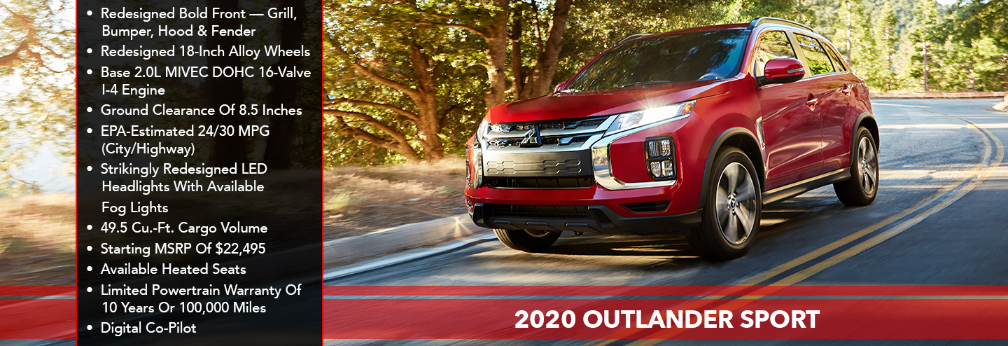 HEROIC SHOT OF 2020 OUTLANDER SPORT