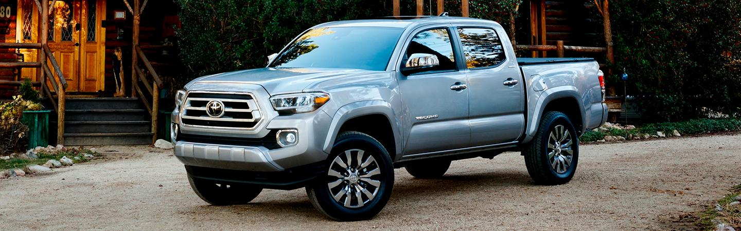 2020 Toyota Tacoma parked in front of a house