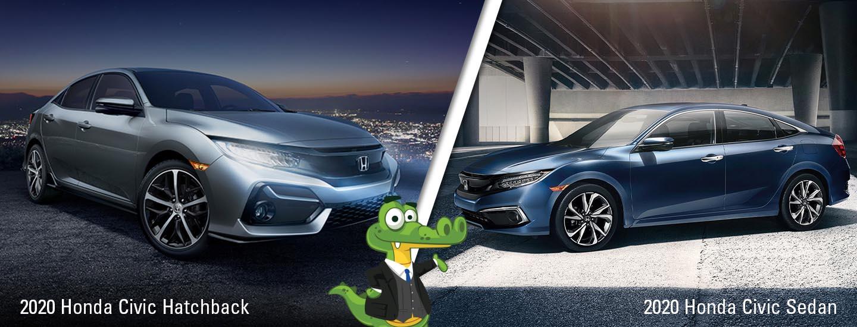2020 Honda Civic Sedan vs Civic Hatchback