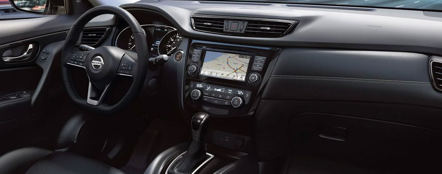 Safety features and interior of the 2019 Nissan Rogue - available at our Nissan dealership near Oklahoma City, OK.