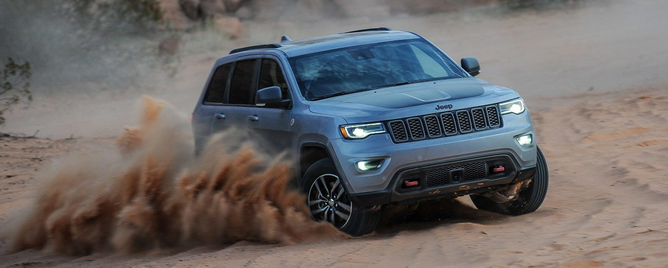 Jeep Grand Cherokee in the desert