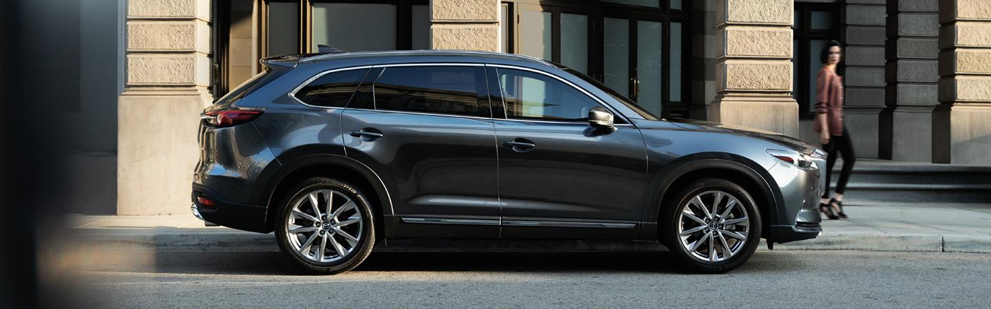Side view of the 2019 Mazda CX-9 parked on the side of the street