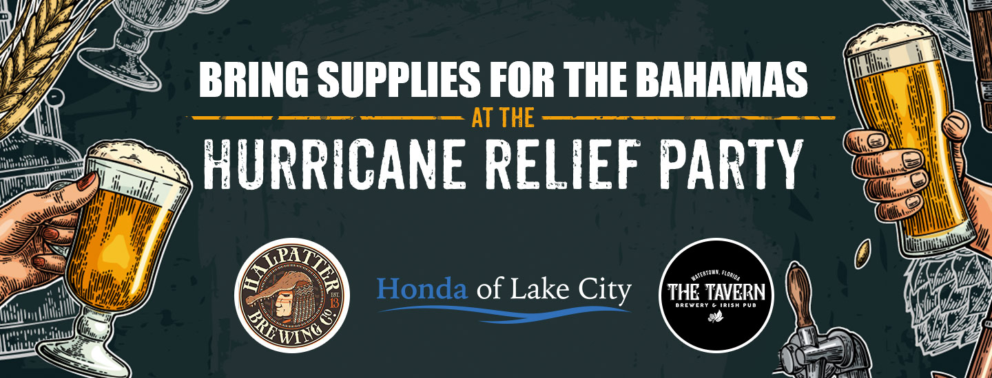 Bring supplies for the Bahamas at the Hurricane Relief Party