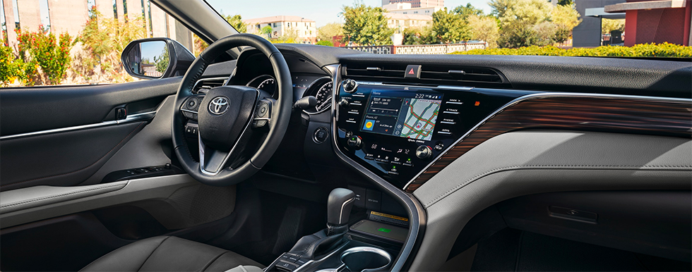 Safety features and interior of the 2019 Toyota Camry - available at our Toyota dealership in Columbus, GA