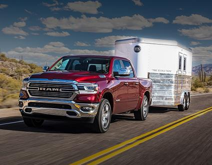 RAM 1500 pulling trailer