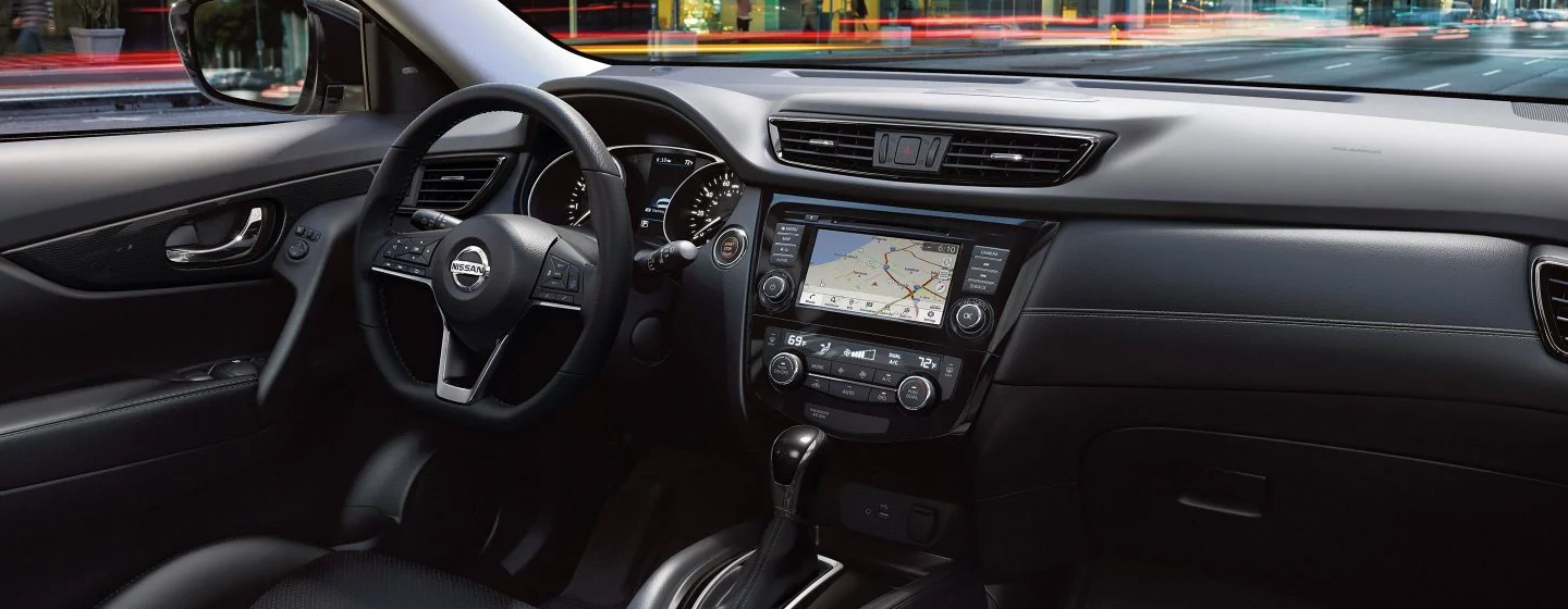 Safety features and interior of the 2019 Nissan Rogue available at our Nissan dealer in Flagstaff, AZ