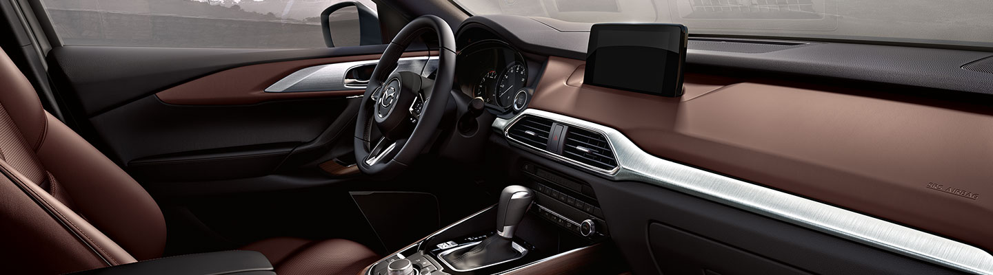 Passenger side perspective of the 2019 Mazda CX-9 at Naples Mazda