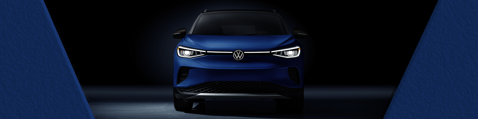Front profile view of a blue VW I.4