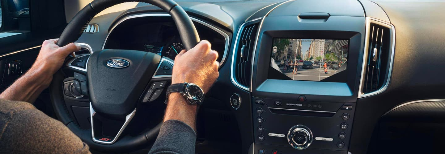 Interior and safety features of the 2019 Ford Edge available at our Ford dealership near Bel Air, MD.