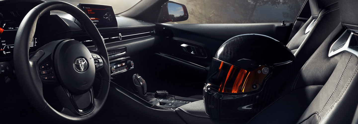 Picture of the interior of the 2020 Toyota Supra