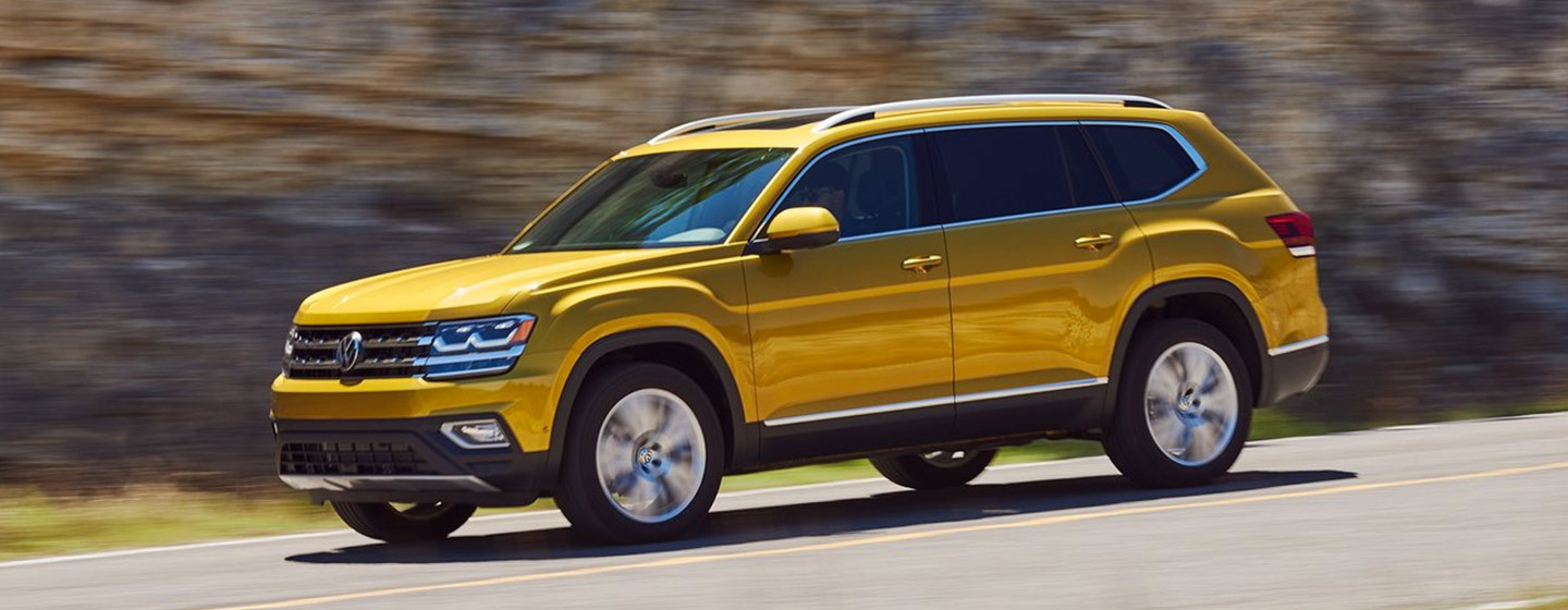 2019 Volkswagen Atlas in motion available at our Volkswagen dealership