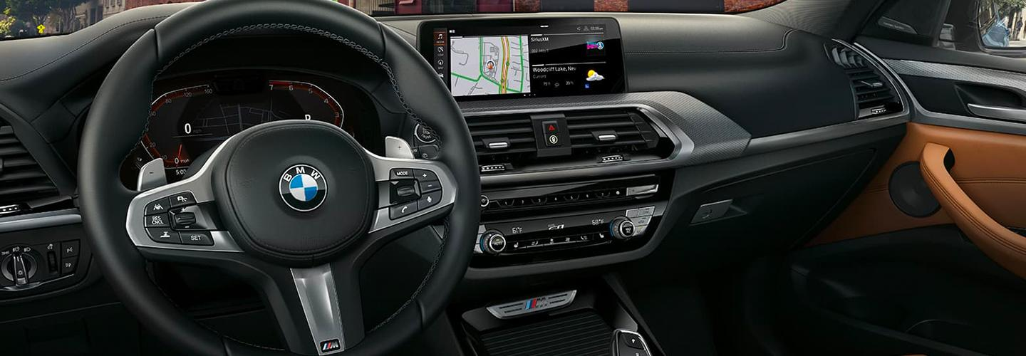 Interior of the 2020 BMW X3