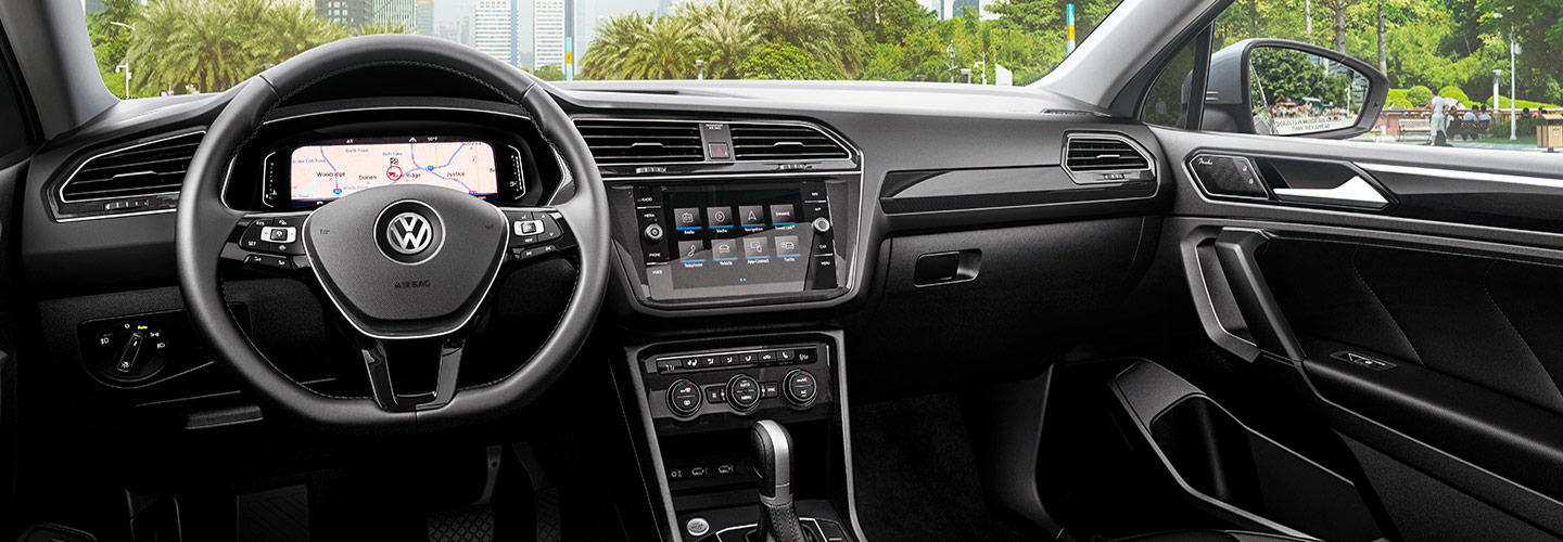 Drivers side perspective of the 2019 Volkswagen Tiguan available at out Gainesville FL dealership