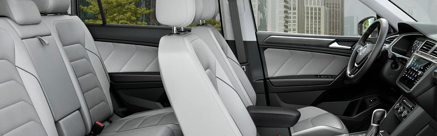 Interior seating of the 2019 Volkswagen Tiguan