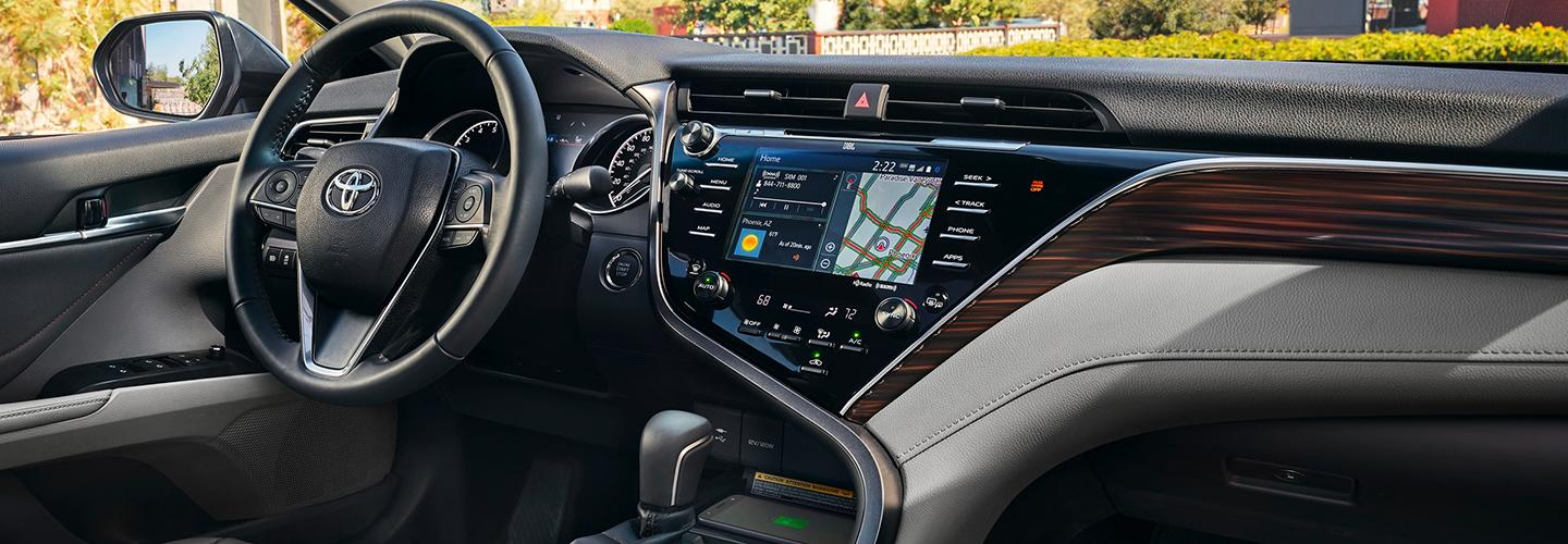 Interior view of the 2020 Toyota Camry