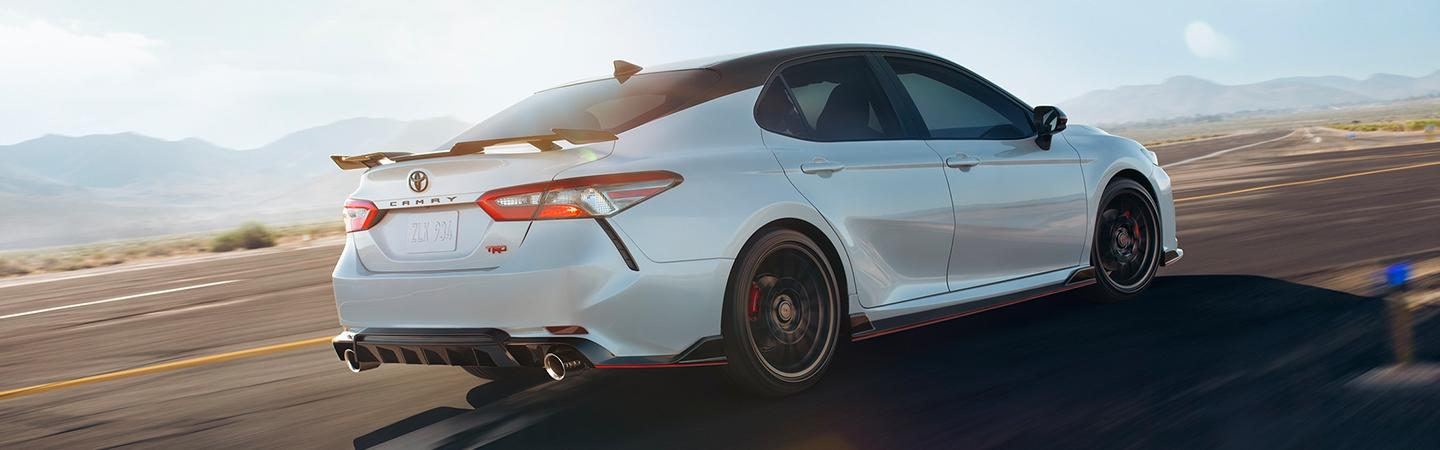Toyota Camry TRD in motion
