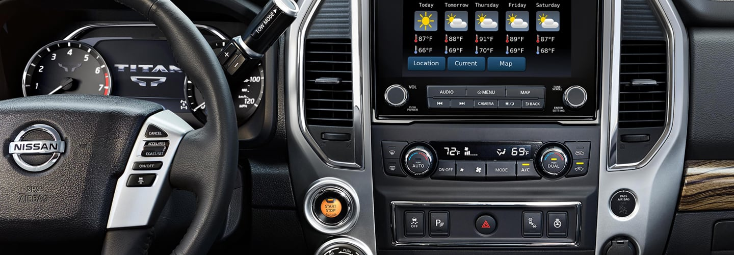 Interior image of the 2020 Nissan TITAN