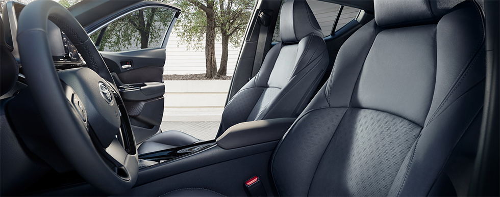 Safety features and interior of the 2019 Toyta C-HR - available at our Toyota dealership near Gainesville.