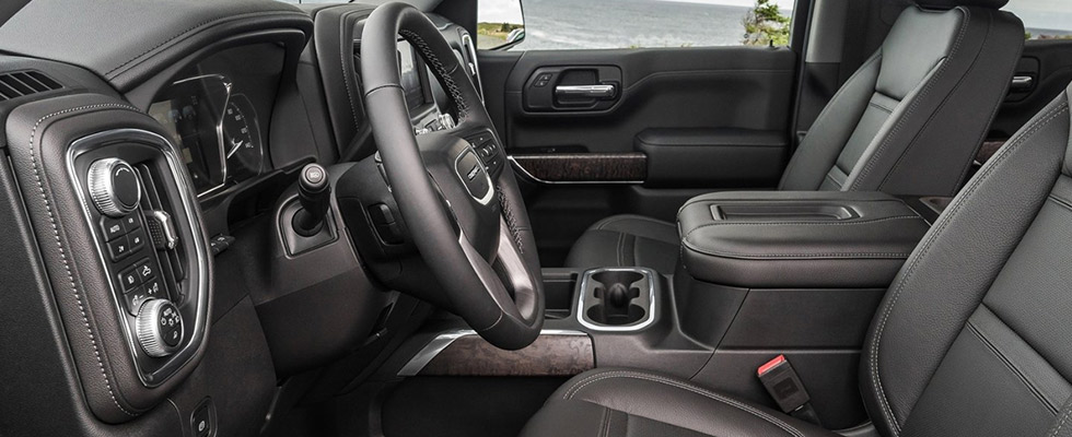Safety features and interior of the 2019 GMC Sierra - available at our GMC dealership in Gainesville, FL.